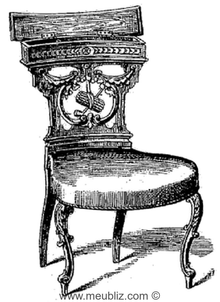 Fumeuse à boîte du XIXème siècle – crédits photos Meubliz