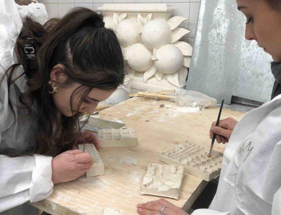 l'école Camondo chez Tollis, sculpteur, staffeur ornemaniste, atelier campus